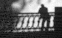 Schatten der müden Person. lizenzfreies stockfoto