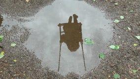 Schatten in der Pfütze 2 stockfotografie