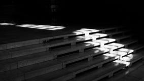 Schatten der Treppe Stockbild