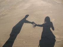 Schatten der zwei Leute Stockfotografie