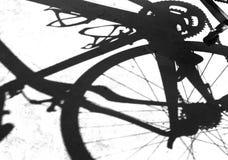 Schatten des Fahrrades Lizenzfreies Stockbild