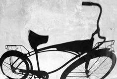 Schatten des Fahrrades Stockfoto