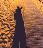 Schatten des Fotografen Stockbilder