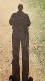 Schatten des Fotografen selbst Stockfotos