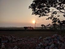 Schatten des Sonnenuntergangs Lizenzfreie Stockbilder