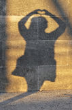Schatten einer Frau mit Herzen Lizenzfreie Stockfotografie