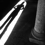 Schatten einer Person Lizenzfreies Stockfoto