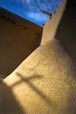 Schatten eines Kreuzes Stockfotos