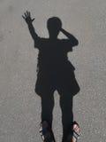 Schatten eines Mannes Stockfotos