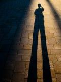 Schatten eines Mannes Stockfotografie
