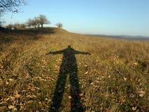 Schatten eines Mannes Stockbilder