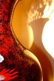 Schatten eines Vase auf der Wand stockbild