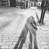 Schatten an Romsey-Abtei Southampton Hampshire Lizenzfreie Stockfotos