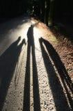 Schatten selfie Stockfotografie