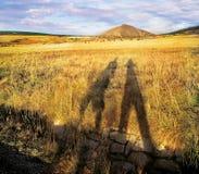 Schatten unter Hügel Stockbilder