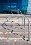 Schatten von der Lenkstange ahmen ein Diagramm nach Stockfotografie
