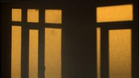 Schatten von einem Fenster lizenzfreies stockbild