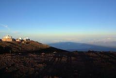 Schatten von Haleakala Stockfotos