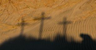 Schatten von Kalvarienberg Lizenzfreies Stockfoto
