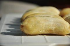 Schatten von trocknenden Bananen Stockbild