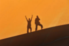 Schatten von zwei Männern Lizenzfreies Stockfoto