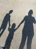 Schatten voran stockfotografie