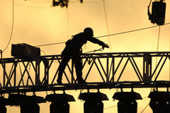Schattenarbeitskraft Stockbild