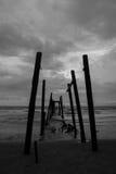 Schattenbild-Brücke lizenzfreie stockfotos