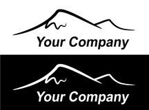 Schattenbild der Berge Lizenzfreie Stockbilder