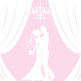 Schattenbild der Braut und des Bräutigams Stockbilder