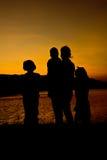 Schattenbild der Familie Stockbild