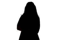 Schattenbild der fetten Frauen Stockfoto