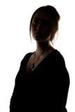 Schattenbild der Frau mit Ausschnitt Lizenzfreie Stockbilder