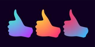 Schattenbild der Hand mit Steigungen Lizenzfreie Stockbilder