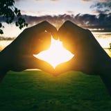 Schattenbild der Herz-Form Lizenzfreie Stockfotos