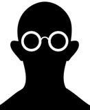 Schattenbild der Person mit Brillen - Vektor vektor abbildung