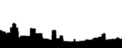 Schattenbild der Stadt. Lizenzfreies Stockfoto