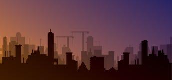 Schattenbild der Stadt Lizenzfreie Stockfotografie