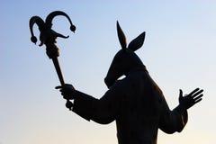 Schattenbild der Statue. Russland. Lizenzfreies Stockfoto