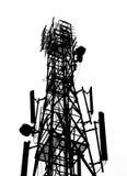 Schattenbild des Antennenmasts Stockbild
