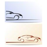 Schattenbild des Autos. Lizenzfreie Stockfotos