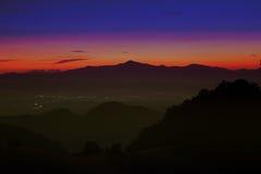 Schattenbild des Berges Lizenzfreie Stockfotografie