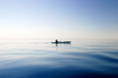 Schattenbild des Bootes Lizenzfreies Stockfoto