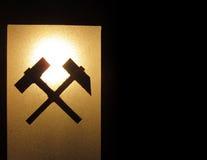 Schattenbild des deutschen Hammerzeichens stockbilder