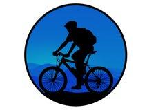 Mountainbiker stock abbildung