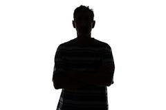 Schattenbild des erwachsenen Mannes Stockbilder
