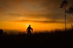 Schattenbild des Fotografen Foto machend Lizenzfreie Stockfotografie