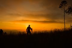Schattenbild des Fotografen Foto machend Lizenzfreie Stockfotos