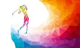 Schattenbild des Frauengolfspielers Vektor eps10 lizenzfreie abbildung