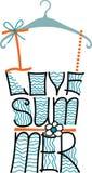 Schattenbild des Frauent-shirts von den Wörtern Typografie-Design Stockbilder